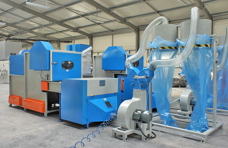Carding Machine with Bale Fiber Feeder